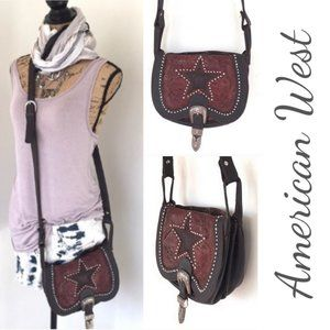 American West western style crossbody leather bag